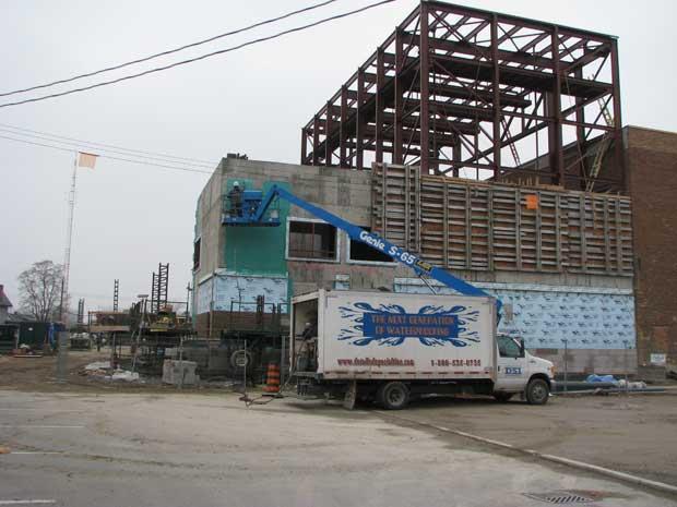 Air Barrier + styrofoam insulation - Capitol Theatre, Chatham