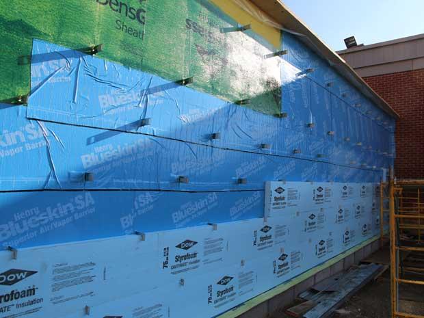 Air Barrier + styrofoam insulation - Chatham Hospital