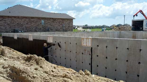 Platon Foundation Protector eliminates water pressure on the wall so cracks behind the membrane won't leak!